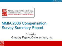 MMIA 2006 Compensation Survey - IMIA
