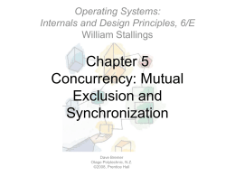Chapter 5Concurrency: Mutual Exclusion and …