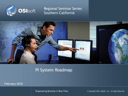 2010 Regional Seminar Roadmap