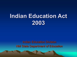 Indian Education Act