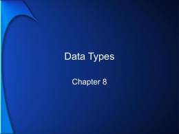 Data Types - LeTourneau University