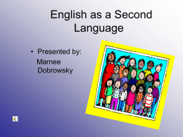 English as a Second Language - Pine