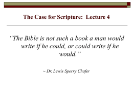 "2 Tim. 3:16-17: ""all Scripture is inspired by God and"