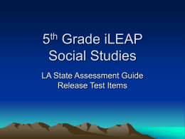 Louisiana 5th Grade Social Studies Assessment
