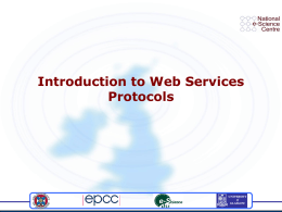 Introduction to Web Services Architecture