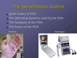 The history of PDA - Cullen College of Engineering