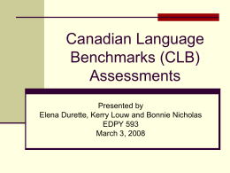 Canadian Language Benchmarks Assessment