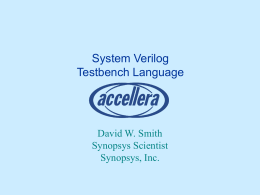 SystemVerilog Testbench Language