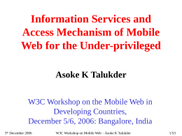 Information Services and Access Mechanism of Mobile …