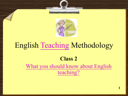 English Teaching Methodology - 樹德科技大學 Shu