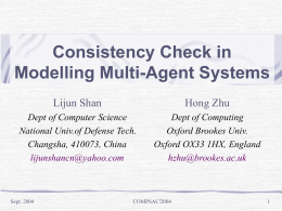 Consistency Check in Modelling Multi