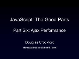 JavaScript - Steve Souders