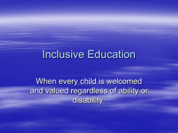 Inclusive Education - Hamilton County Schools