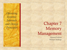 Chapter 7 Memory Management - UAHuntsville