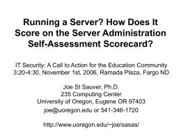 Server Administration Self