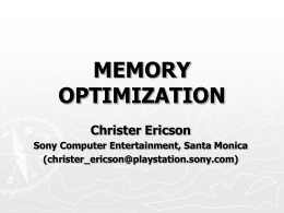 MEMORY OPTIMIZATION - Real