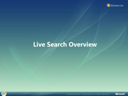 Live Search Update