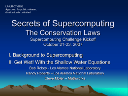 Secrets of Supercomputing