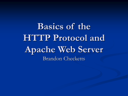 HTTP and Web Servers