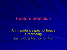 Feature detection - Stevens Institute of Technology
