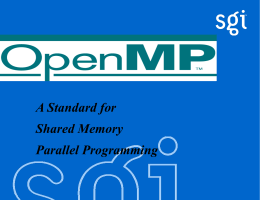 OpenMP Introduction - TAMU Supercomputing Facility