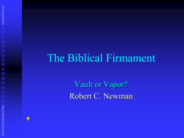 The Biblical Firmament