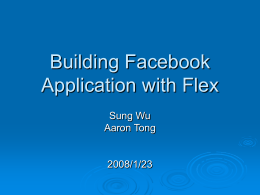 Building Facebook Application with Flex for Beginners