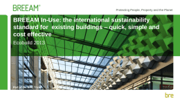 BREEAM In-Use, the international sustainability standard