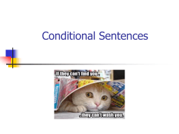 Conditional Sentences - Eugenia Sanchez's Blog