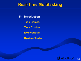 Real-Time Multitasking
