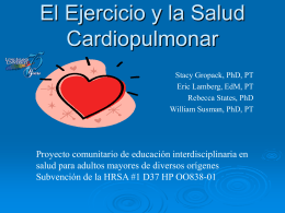 Exercise and Cardiopulmonary Health