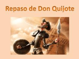 Repaso de Don Quixote