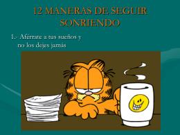 12 MANERAS DE SEGUIR SONRIENDO