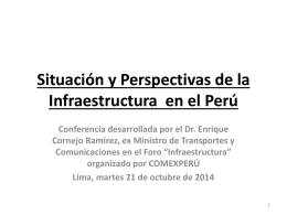Diez reflexiones sobre infraestructura en el Per&#250