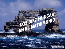 LOS DIEZ NUNCAS DEL MATRIMONIO
