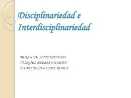Disciplinariedad e Interdisciplinariedad - HPC