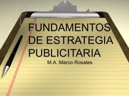 FUNDAMENTOS DE ESTRATEGIA PUBLICITARIA