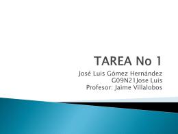 TAREA No 1