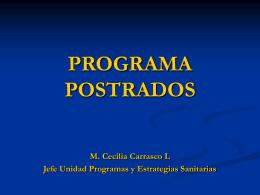 PROGRAMA POSTRADOS