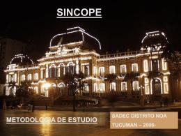 SINCOPE METODOLOGIA DE ESTUDIO