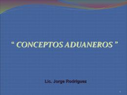 Conceptos Aduaneros