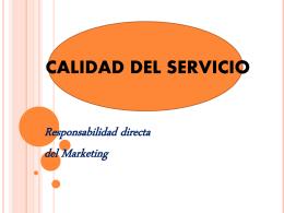CALIDAD DEL SERVICIO - Marketing de Servicios