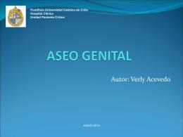 Aseo genital - Escuela de Medicina