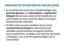 ANALISIS DE SITUACION DE SALUD (ASIS)