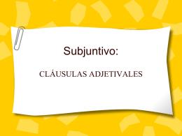 Subjuntivo: