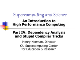 Supercomputing and Science