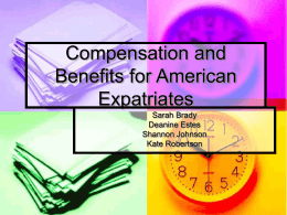 Compensation and Benefits for American Expatriates
