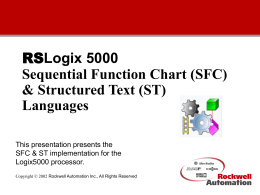 RSLogix 5000 Sequential Function Chart (SFC) Language