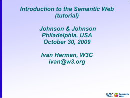 Introduction to the Semantic Web