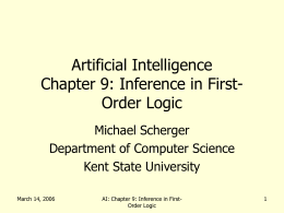 Artificial Intelligence Chapter 7